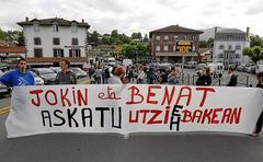 Manifestation pour Jokin Aranalde et Beñat Atorrasagasti