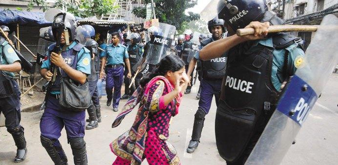 Manifestation travailleurs textile Bengla Desh