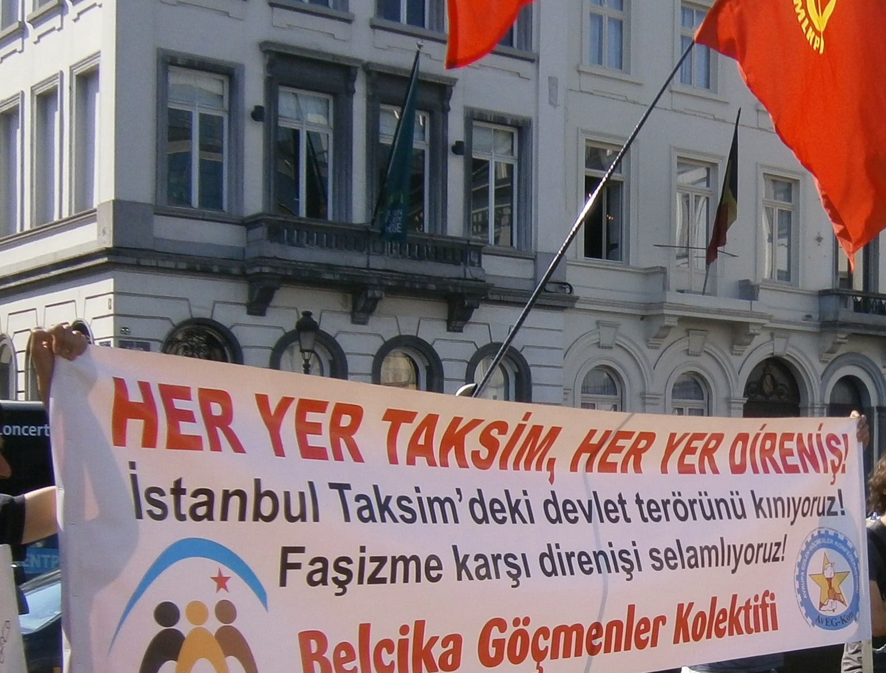 Bruxelles Soutien manifestants Taksim