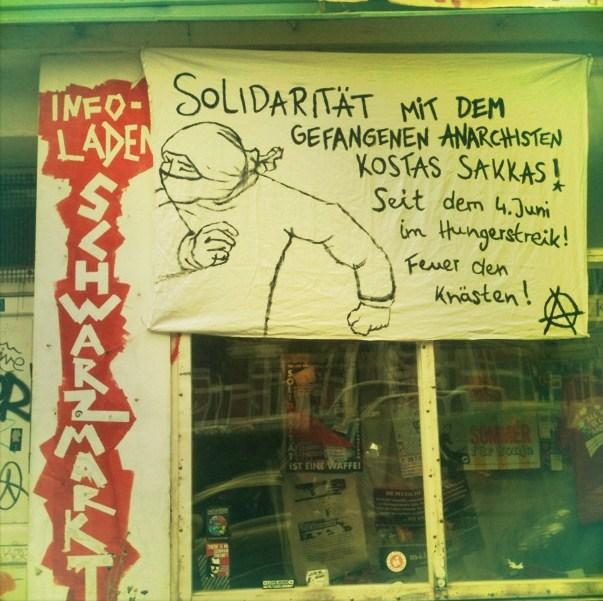Action de solidarité avec Sakkas à Hambourg