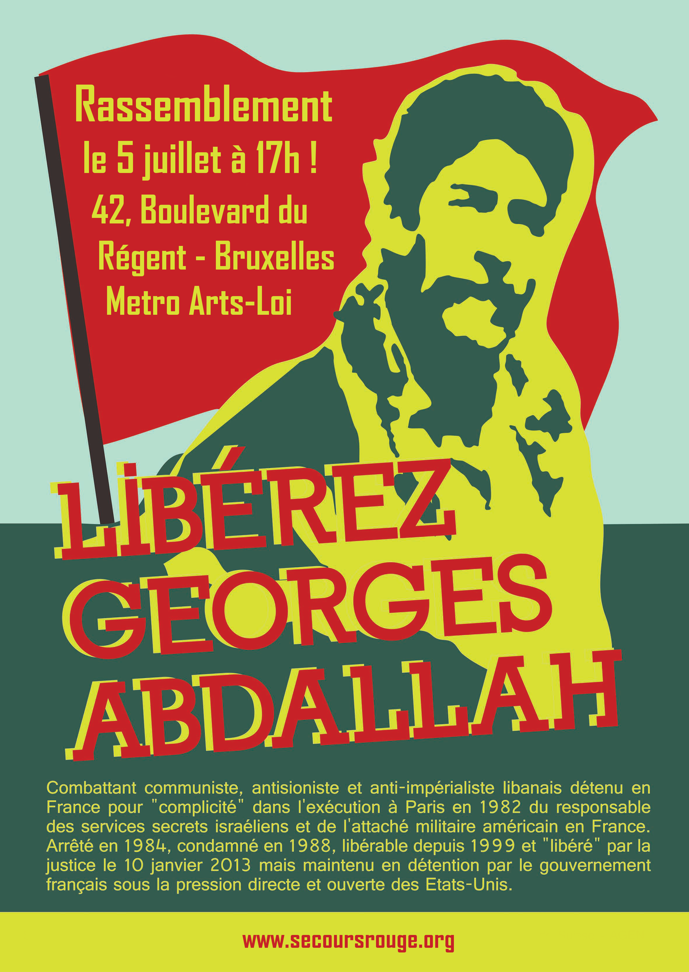 Rassemblent à Bruxelles pour Georges Ibrahim Abdallah