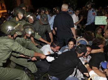 répression manif maroc