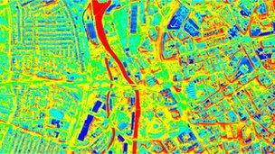 image thermique drone slough