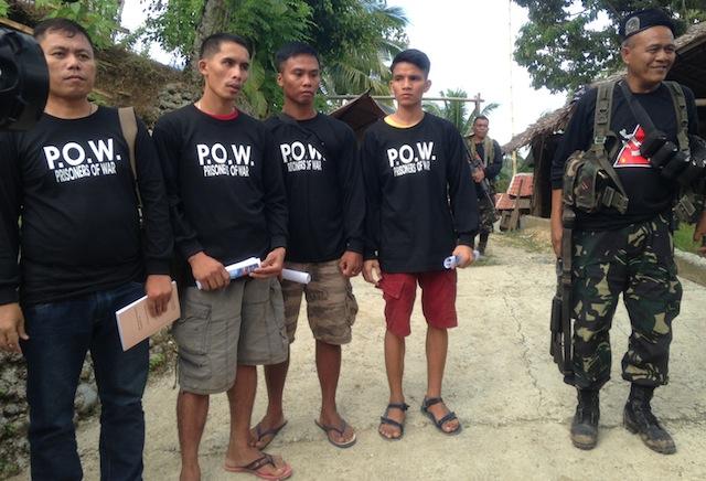 soldats prisonniers guérilla maoïste philippines