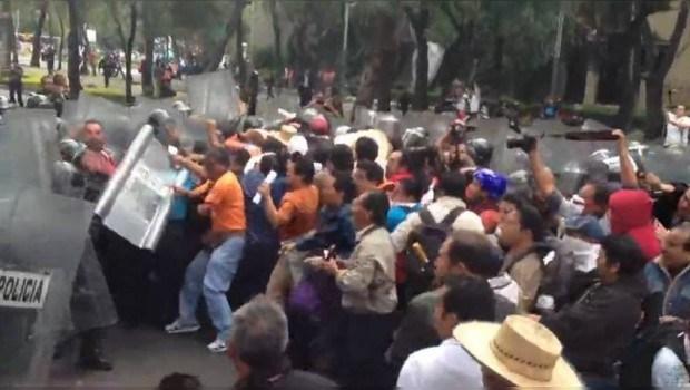 Affrontements sur le Zocalo