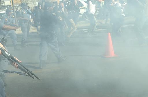 Répression dans la banlieue de Soweto