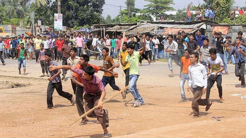 manifestation ouvriers du textile bengladesh