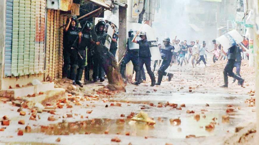 Répression des ouvriers du textile au Bangladesh