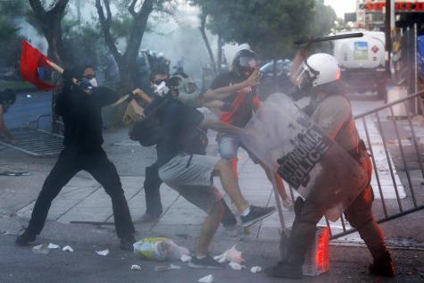 manifestation antifa en Grèce