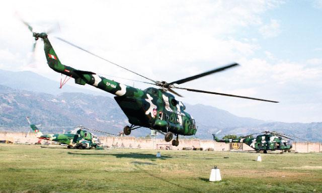 hélicoptère contre-guérilla pérou