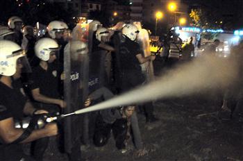 Gaz lacrymogène en Turquie