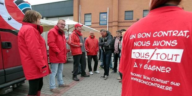 piquet de grève à vandemoortele