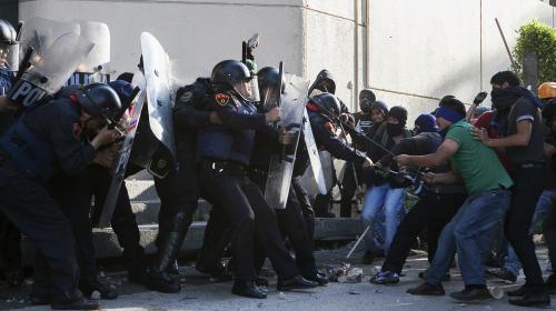 Affrontements à Mexico