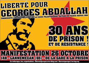 affiche georges abdallah