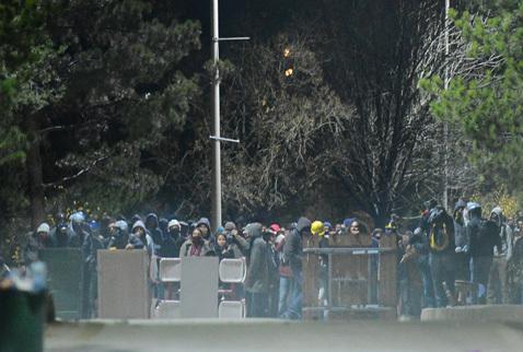 Protestation à l'université d'Ankara