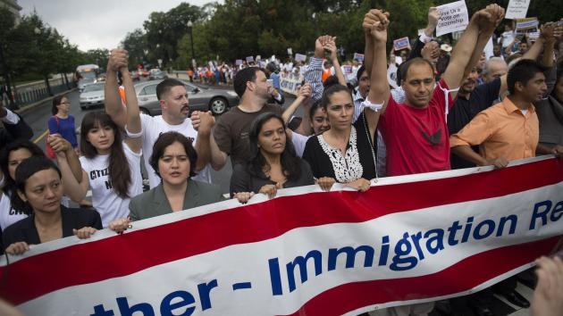 manifestation immigration USA