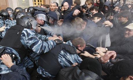 Manifestation de l'opposition à Kiev