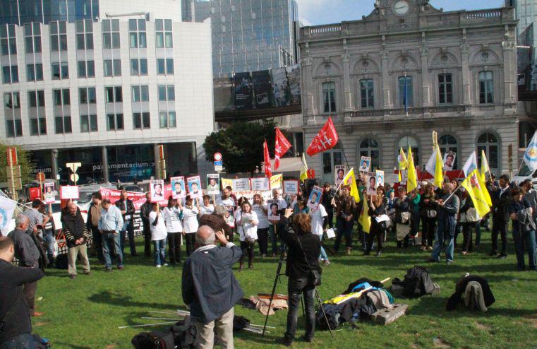 manifestation grèvistes de la faim Turquie Bruxelles