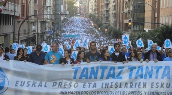 manifestation à Bilbao