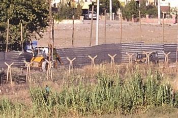 Construction d'un mur à la frontière turco-syrienne