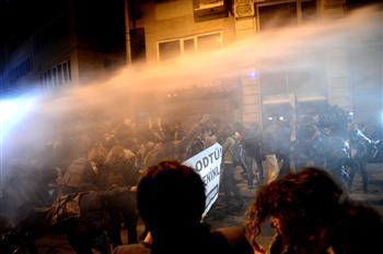 Répression d'étudiants à Istanbul
