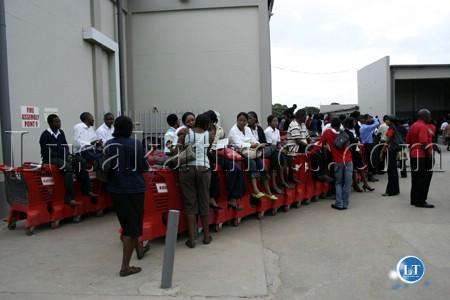 Piquet de grève chez Shoprite à Lusaka