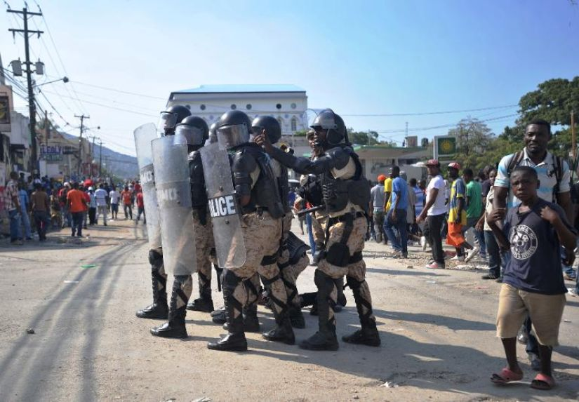 Police contre manifestants à Cap-Haïtien