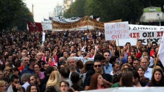 Manifestation en Grèce contre un projet minier
