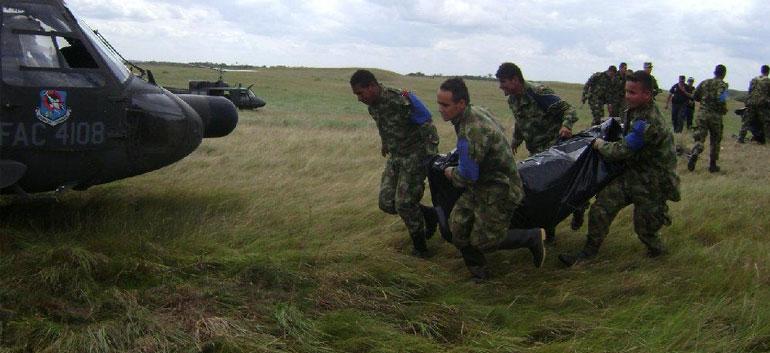 Armée colombienne en opération