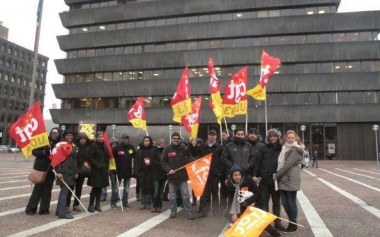 Les syndicalistes de H&M devant le tribunal
