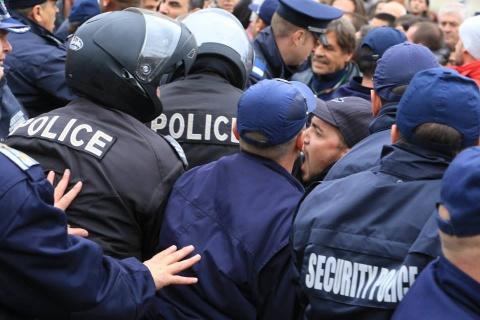 Déploiement policier à Sofia