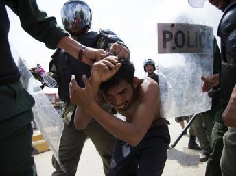 répression des ouvriers du textile au Cambodge
