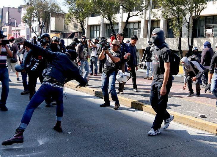 Manifestation anti-gouvernementale à Mexico