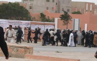 Manifestation à Laayoune