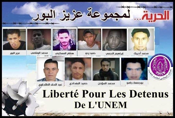 grève de la faim unem au maroc