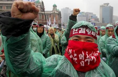 cheminots coréens en grève