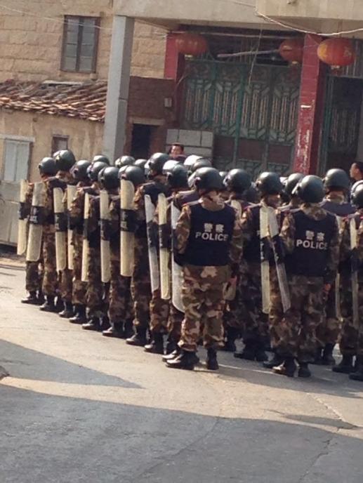Déploiement policier à Fujian