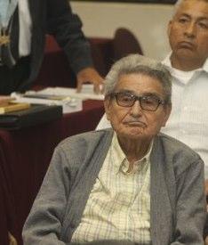 Président Gonzalo à son procès