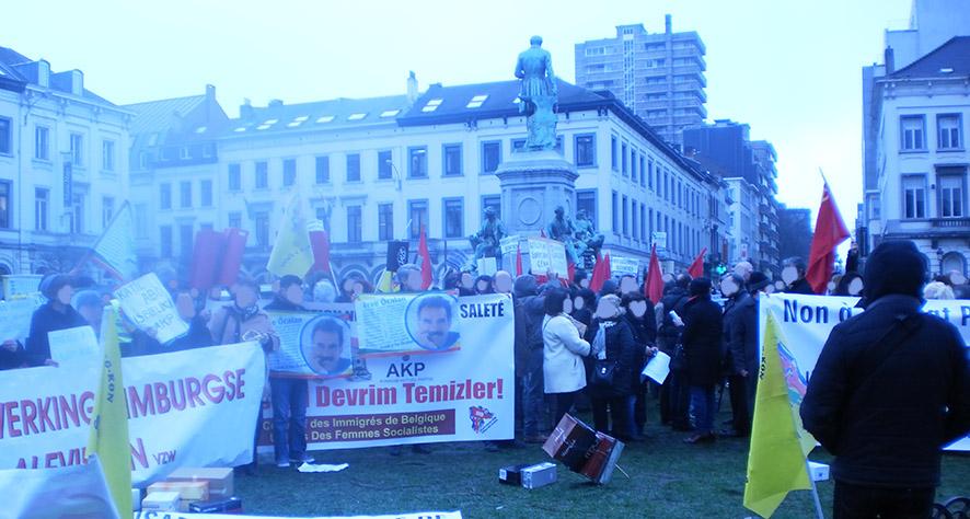 manifestation anti-erdogan à Bruxelles
