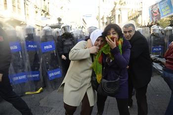 Répression d'une manifestation à Istanbul