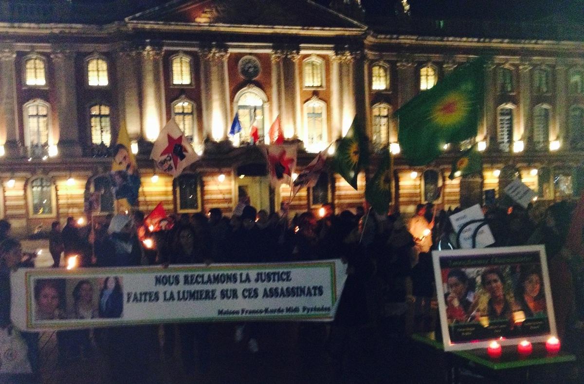 Manifestation à Toulouse pour les trois kurdes assassinées
