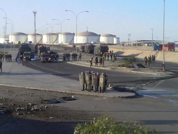 Grève au port de Mejillones