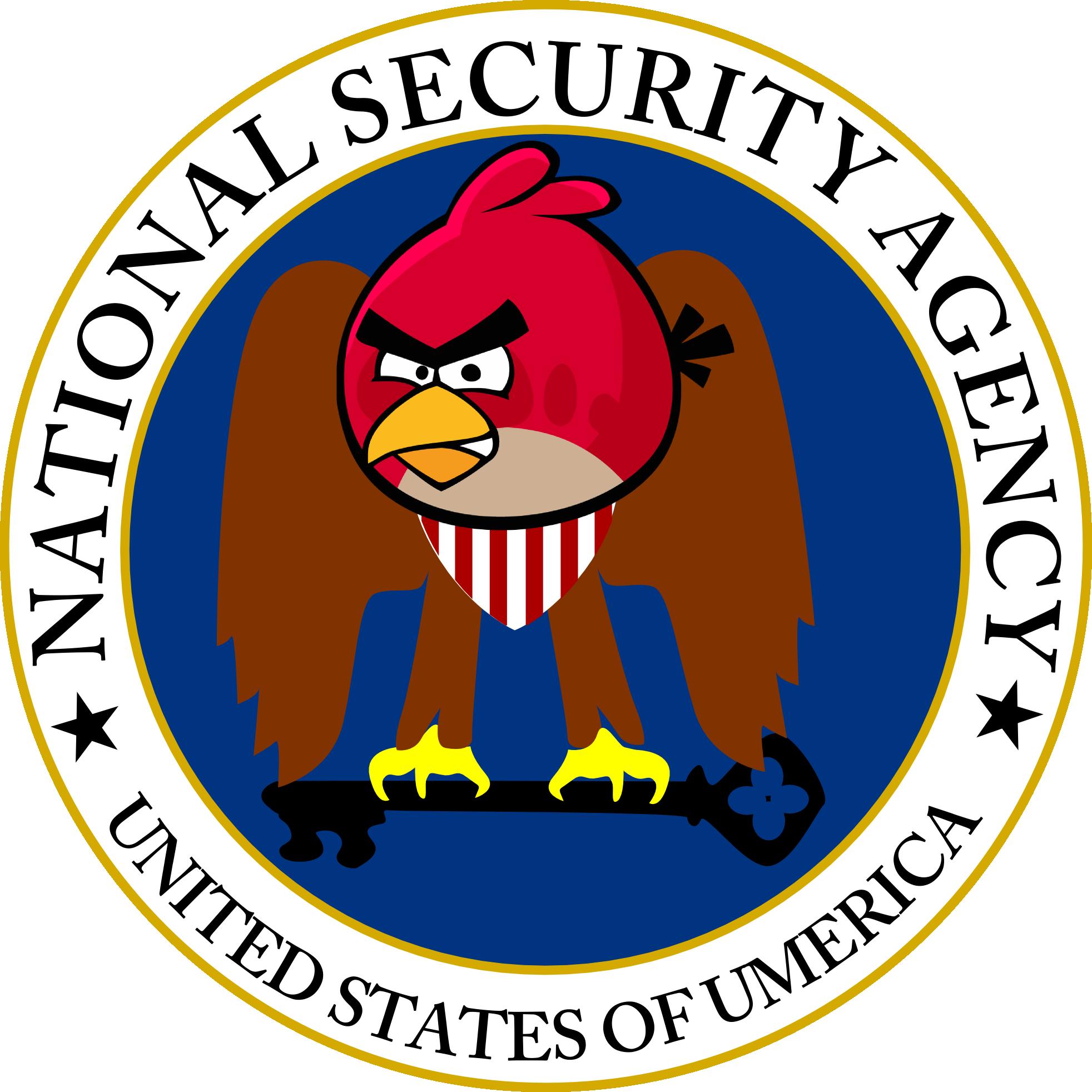 Parodie du logo de la NSA