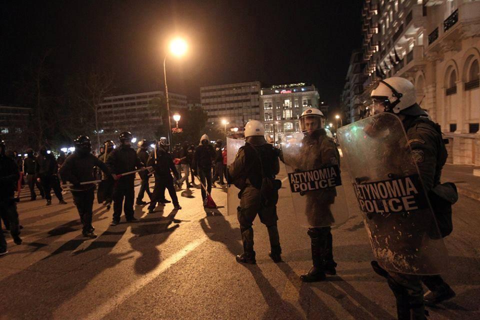 Policiers anti-émeute à Athènes