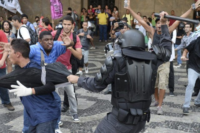 Manifestation à Rio