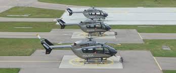 Trois EC-145 péruvien sur le parking d'Eurocopter en Allemagne