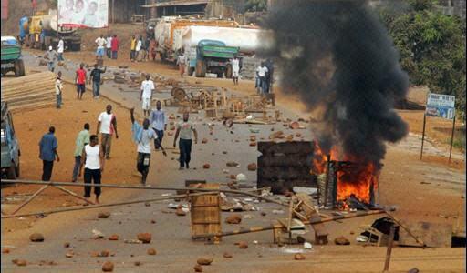 Emeute de l'électricité à Conakry