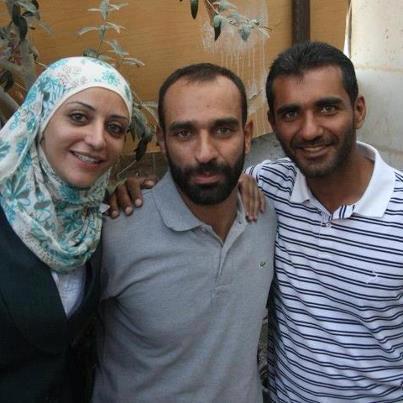 Shireen (à g.), Samer (au centre) et Shadi Issawi