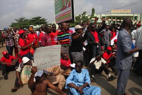 Manifestation de grévistes au Bénin