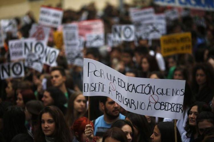 grève étudiante en Espagne
